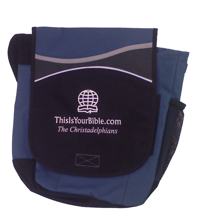 Steel Blue and Black Christadelphian Bible and Book Bag